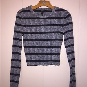 Forever 21 Ribbed Fitted Long Sleeve